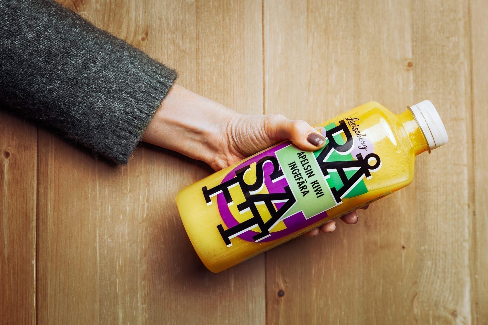 RÅSAFT Apelsin Kiwi Ingefära färsk obehandlad juice